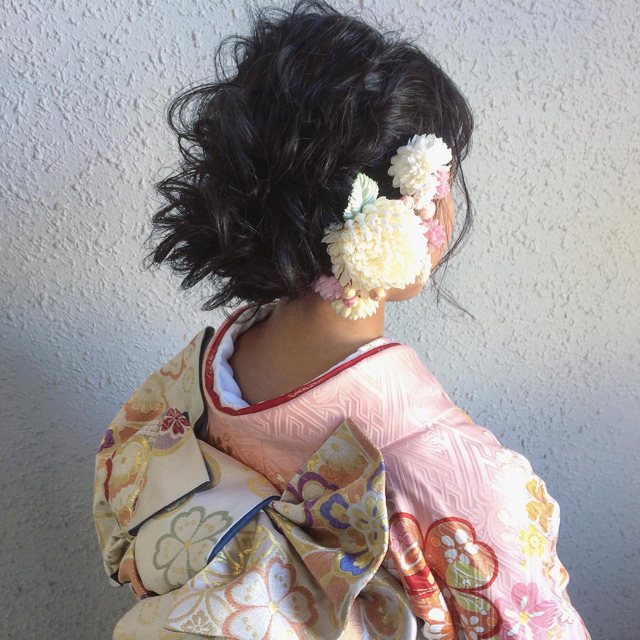 大人かわいい セミロング ゆるふわ 暗髪 ヘアスタイルや髪型の写真・画像 | YUJI / LIICHI / LIICHI (リイチ)