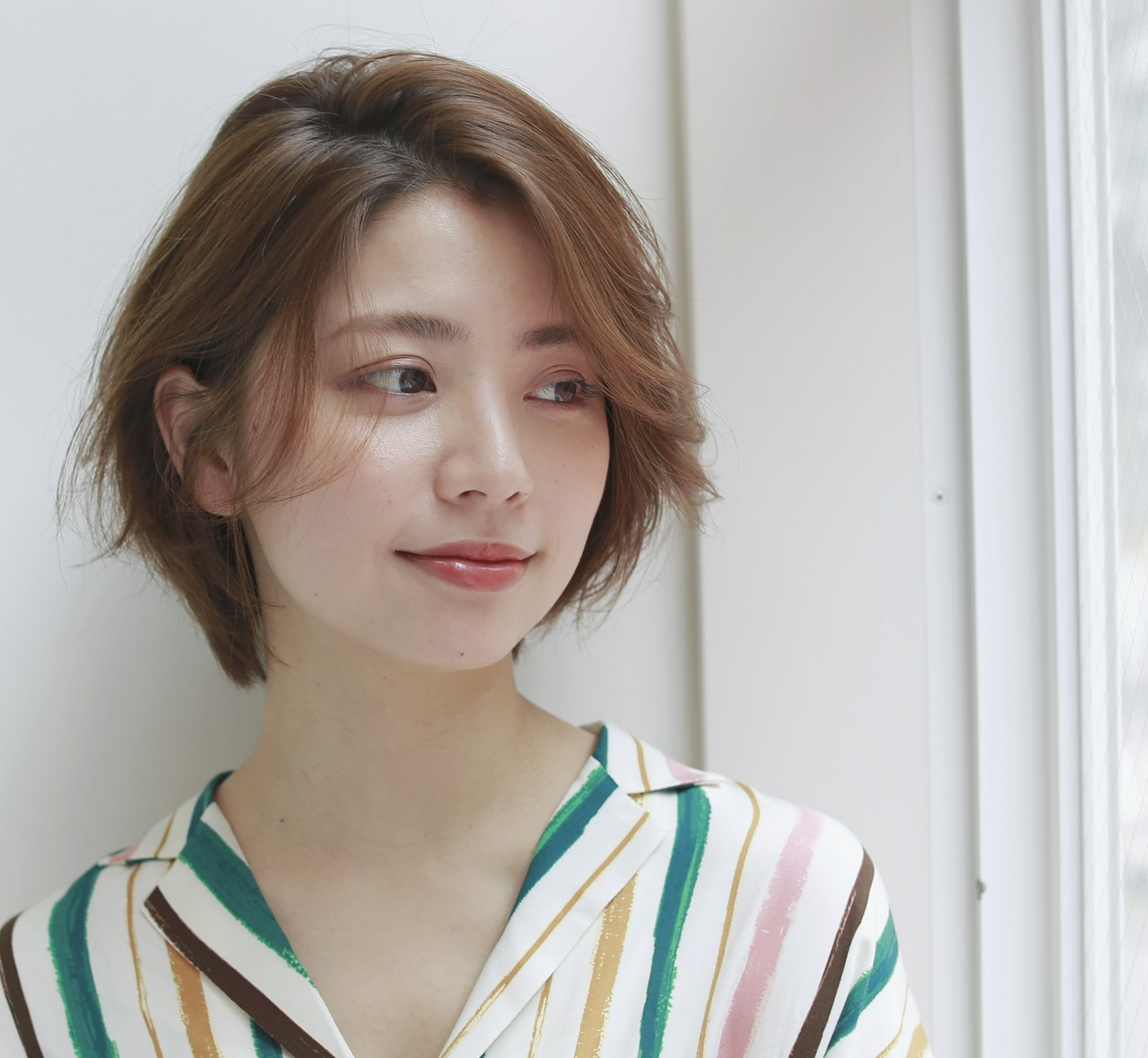 ショート グレージュ ベージュ ウェットヘア ヘアスタイルや髪型の写真・画像 | Yukie Horiuchi / スパイスアヴェダ