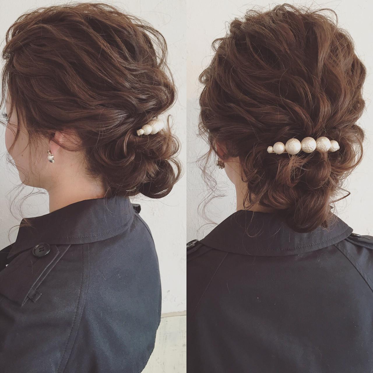 アップスタイル ツイスト ロープ編み ヘアアレンジ ヘアスタイルや髪型の写真・画像