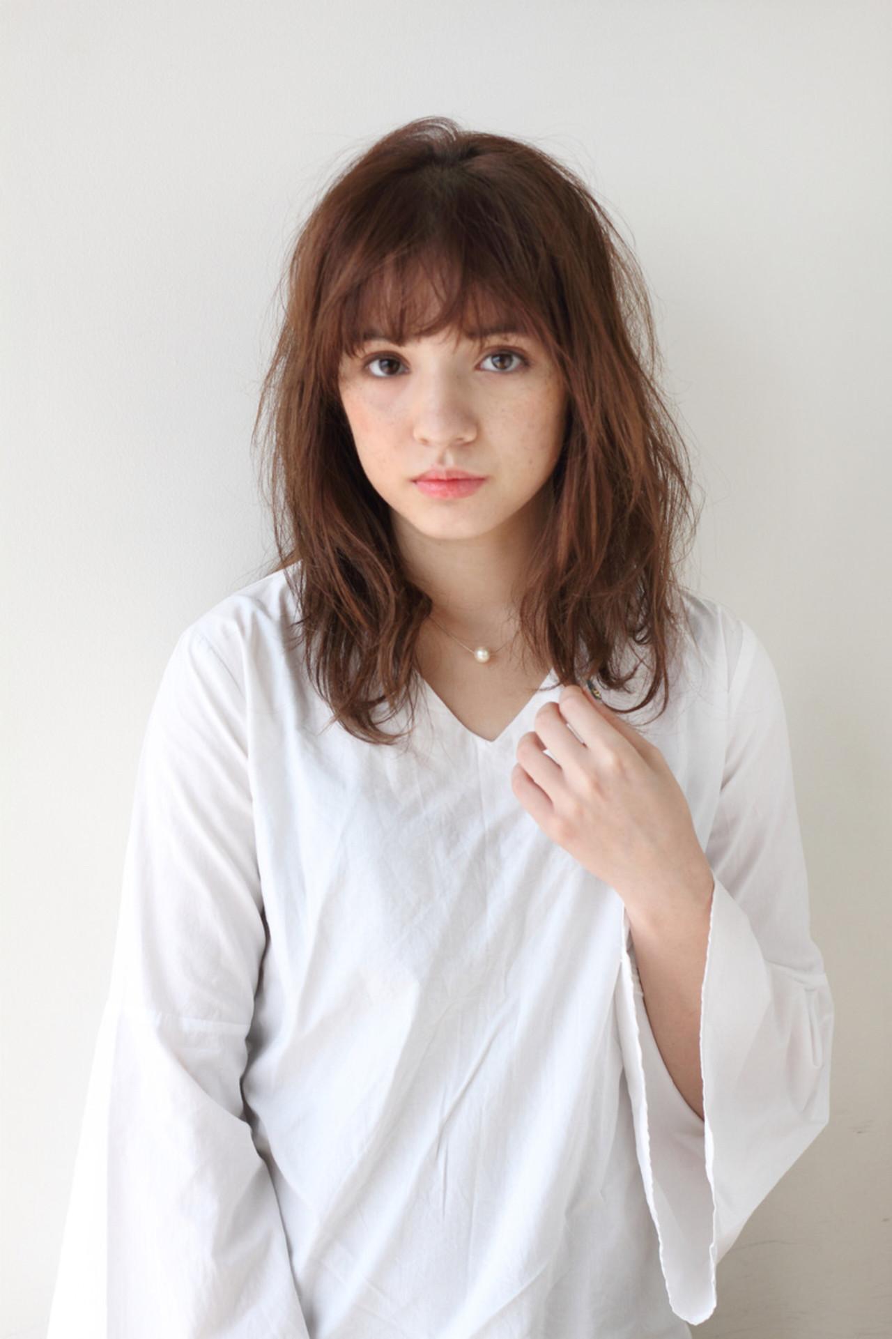 ナチュラル セミロング 抜け感 ラフ ヘアスタイルや髪型の写真・画像 | mod's hair/sasaki ayumi / mod's hair 新宿サウス店