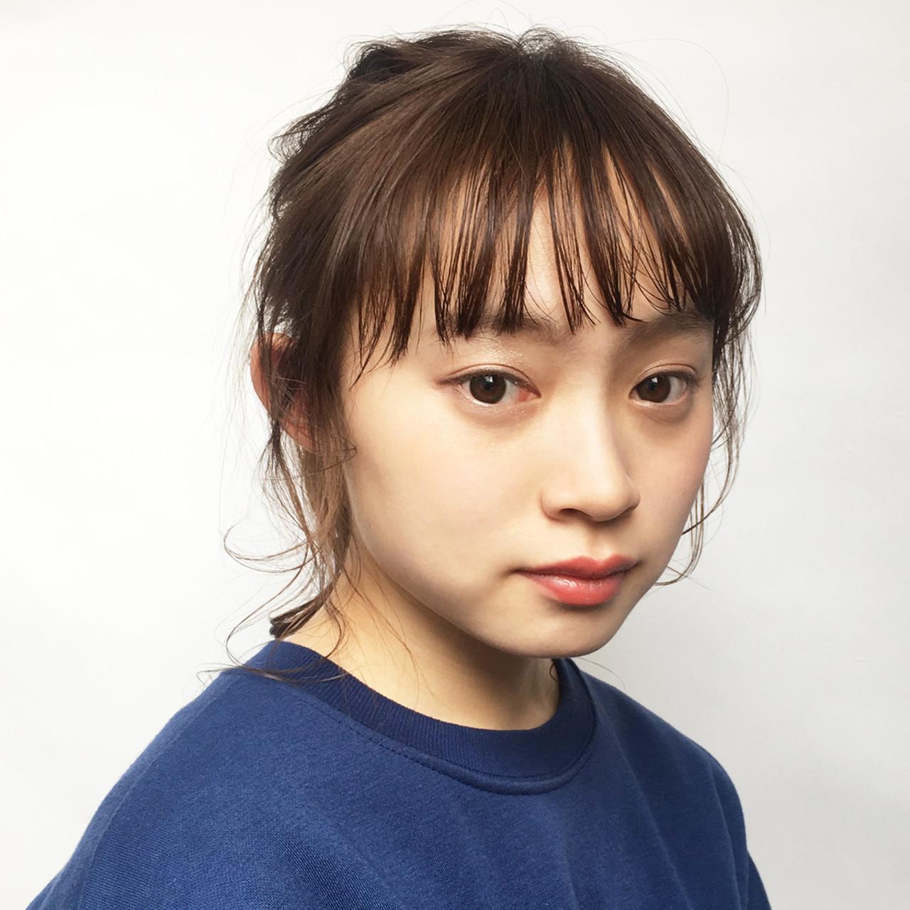 デート セミロング ヘアアレンジ オフィス ヘアスタイルや髪型の写真・画像 | 中尾 寿揮 / Anna Lanna