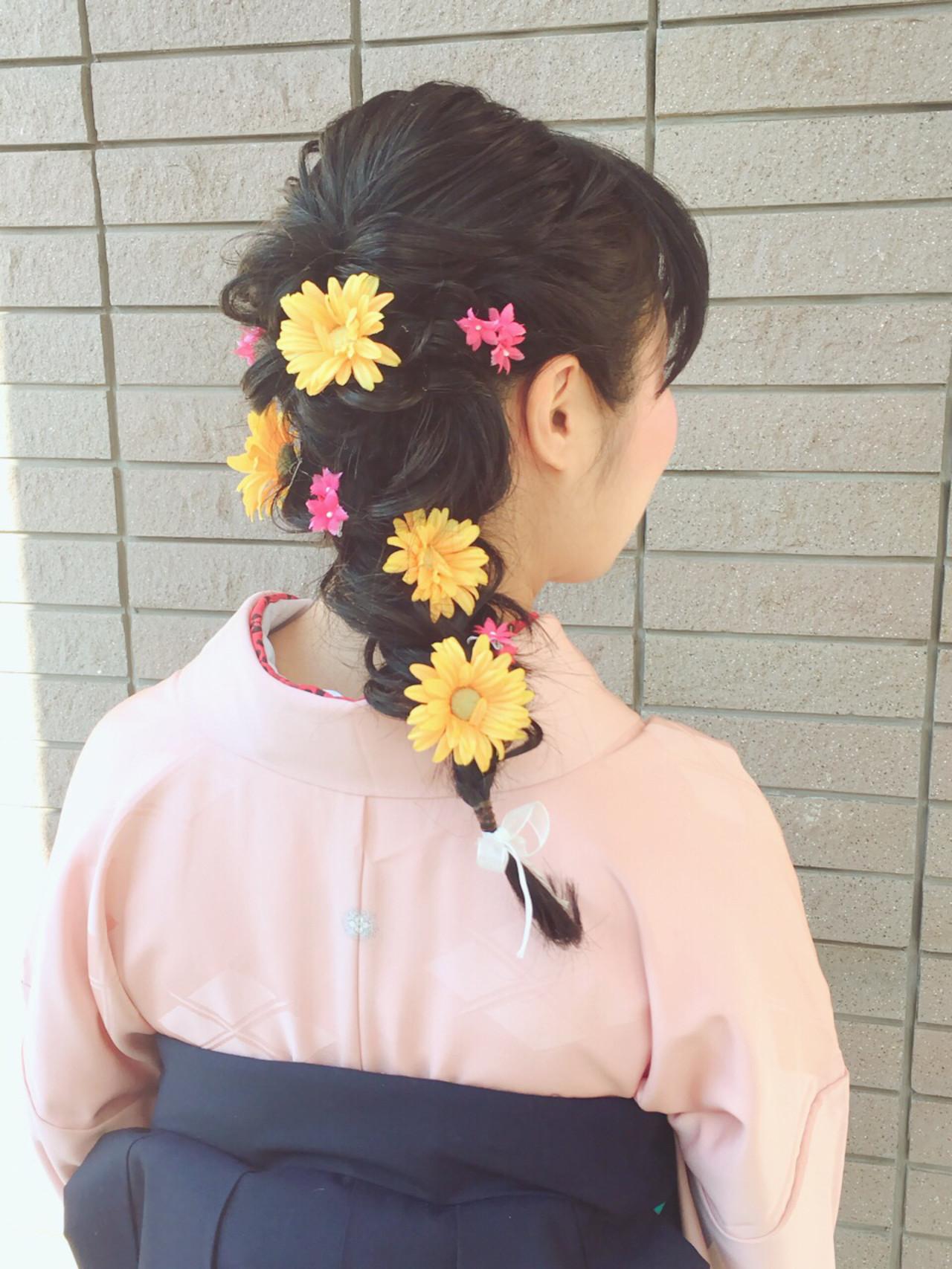 簡単ヘアアレンジ ヘアアレンジ 謝恩会 ショート ヘアスタイルや髪型の写真・画像