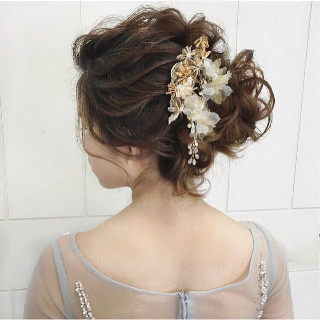 大人女子 エレガント パーティ 上品 ヘアスタイルや髪型の写真・画像