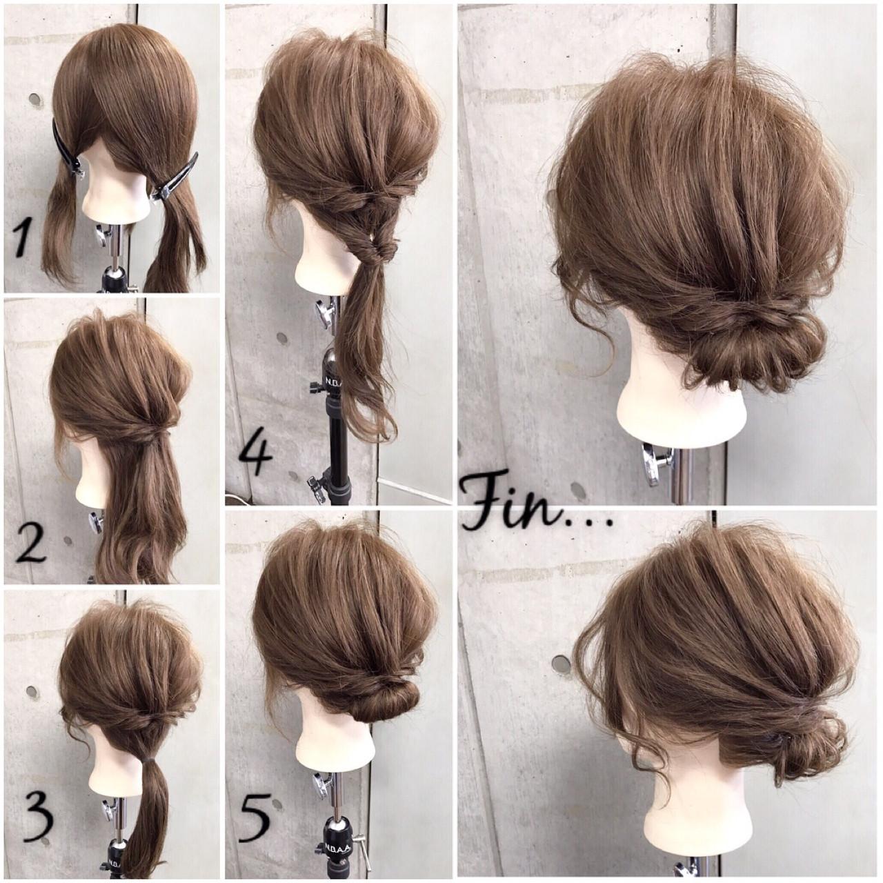 和装 簡単 セミロング ギブソンタック ヘアスタイルや髪型の写真・画像 | 東海林翔太 LinobyU-REALM / Lino by U-REALM