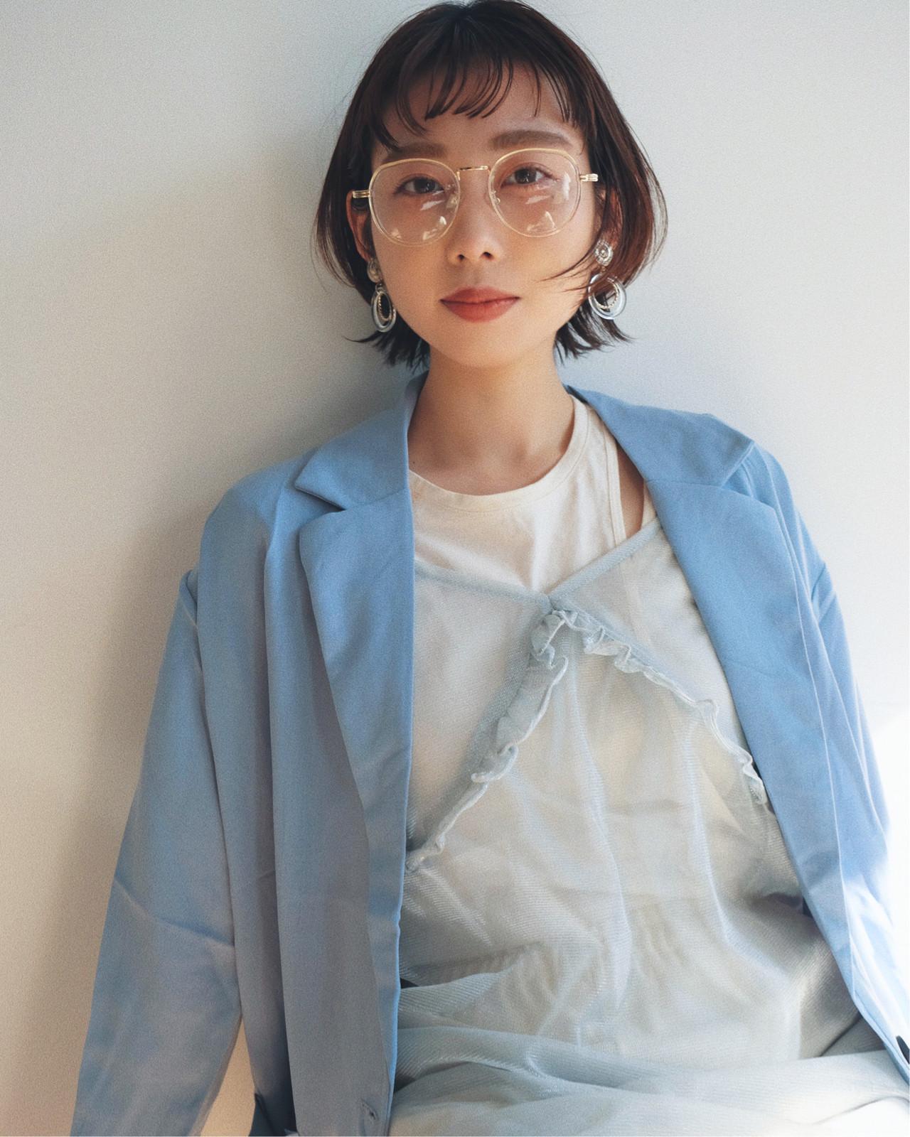 ナチュラル アウトドア ショート 大人かわいい ヘアスタイルや髪型の写真・画像   YUJI / LIICHI / LIICHI (リイチ)