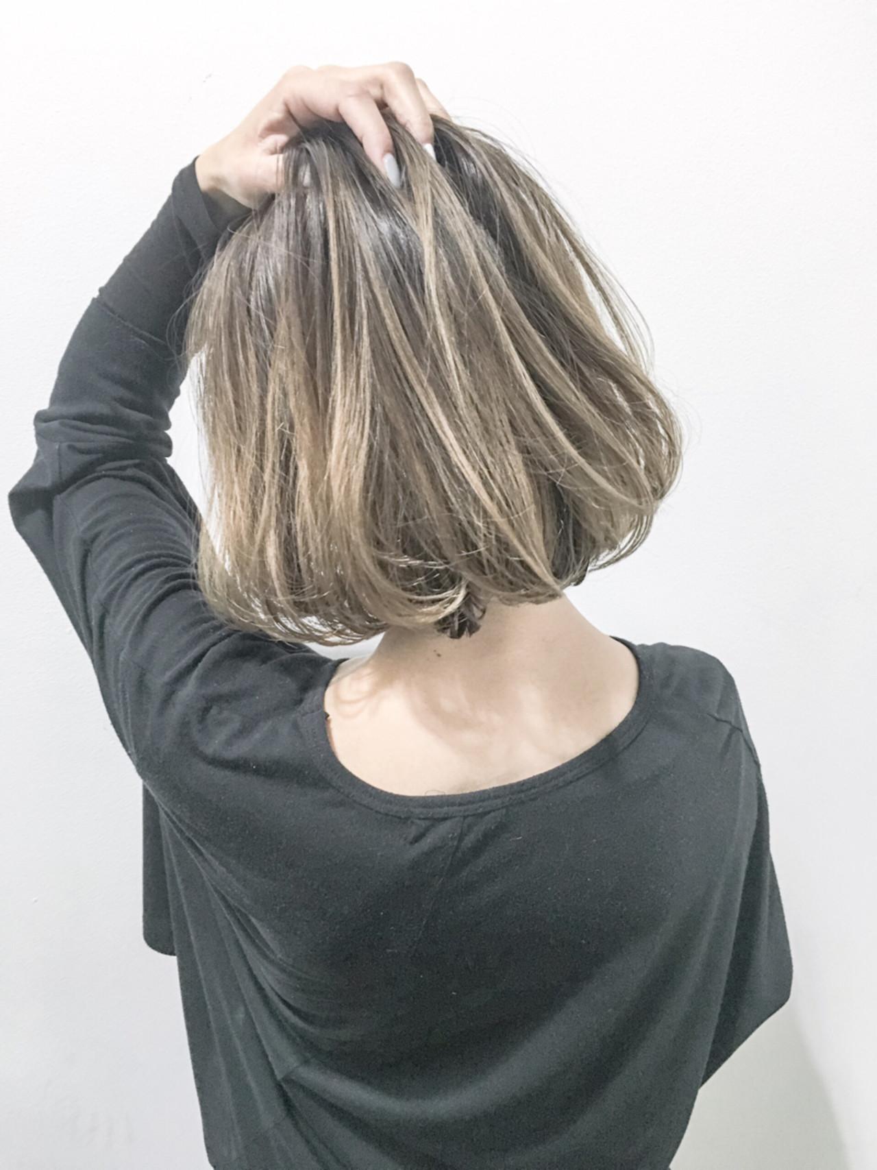 外国人風 暗髪 ストリート ボブ ヘアスタイルや髪型の写真・画像
