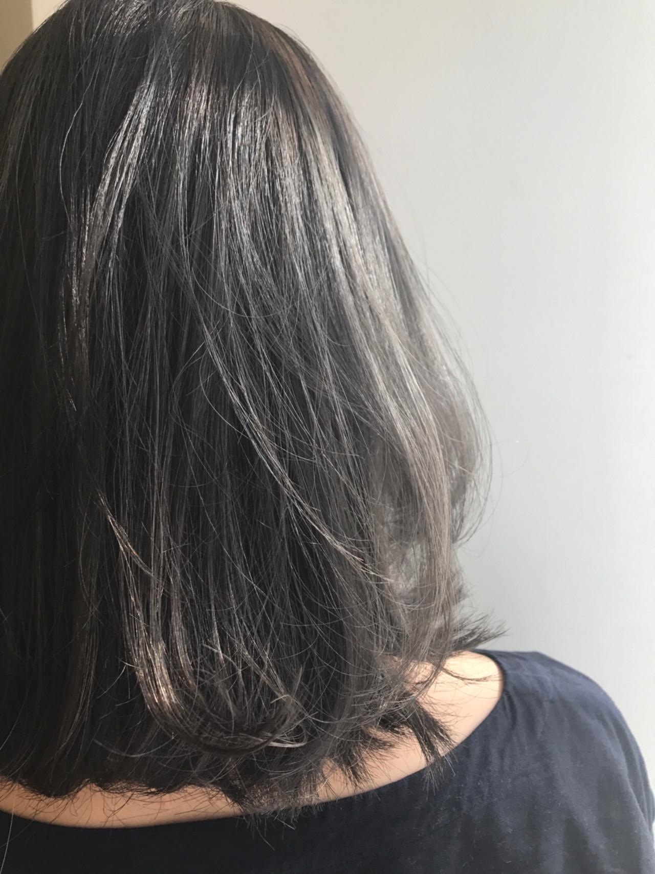 ストリート ダブルカラー 秋 透明感 ヘアスタイルや髪型の写真・画像 | 小走 祥菜 / tricca daikanyama