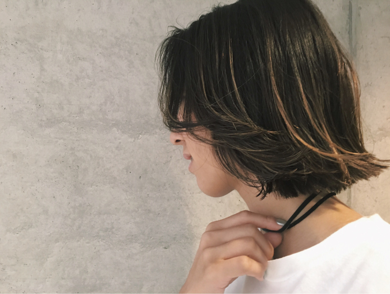 グラデーションカラー ボブ 暗髪 アッシュ ヘアスタイルや髪型の写真・画像 | Sayaka / diptyMOILA