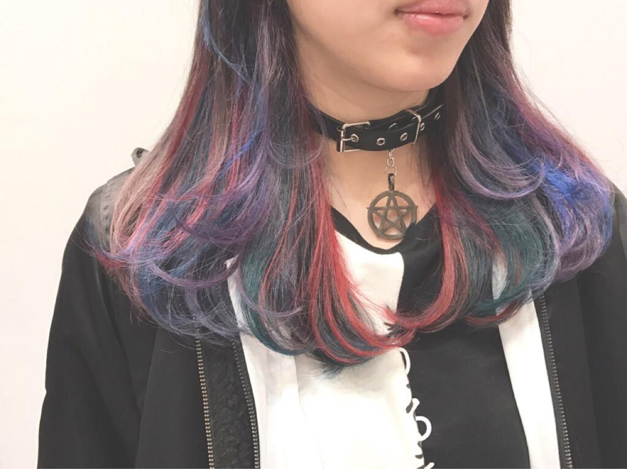ダブルカラー ストリート インナーカラー グラデーションカラー ヘアスタイルや髪型の写真・画像   Daichi shimazu / hairsalon M 新宿