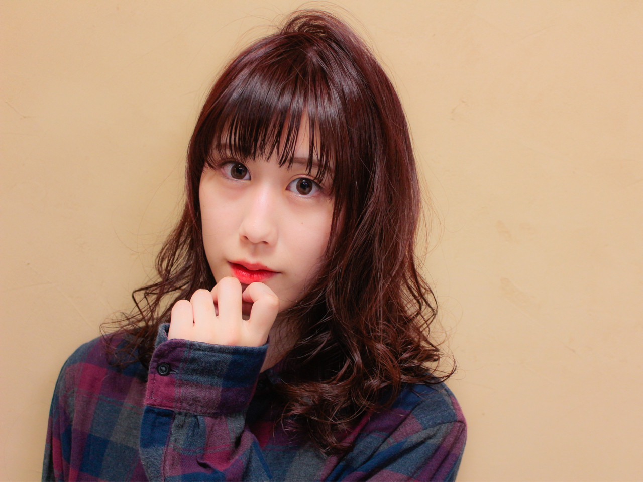 セミロング モテ髪 フェミニン 秋 ヘアスタイルや髪型の写真・画像