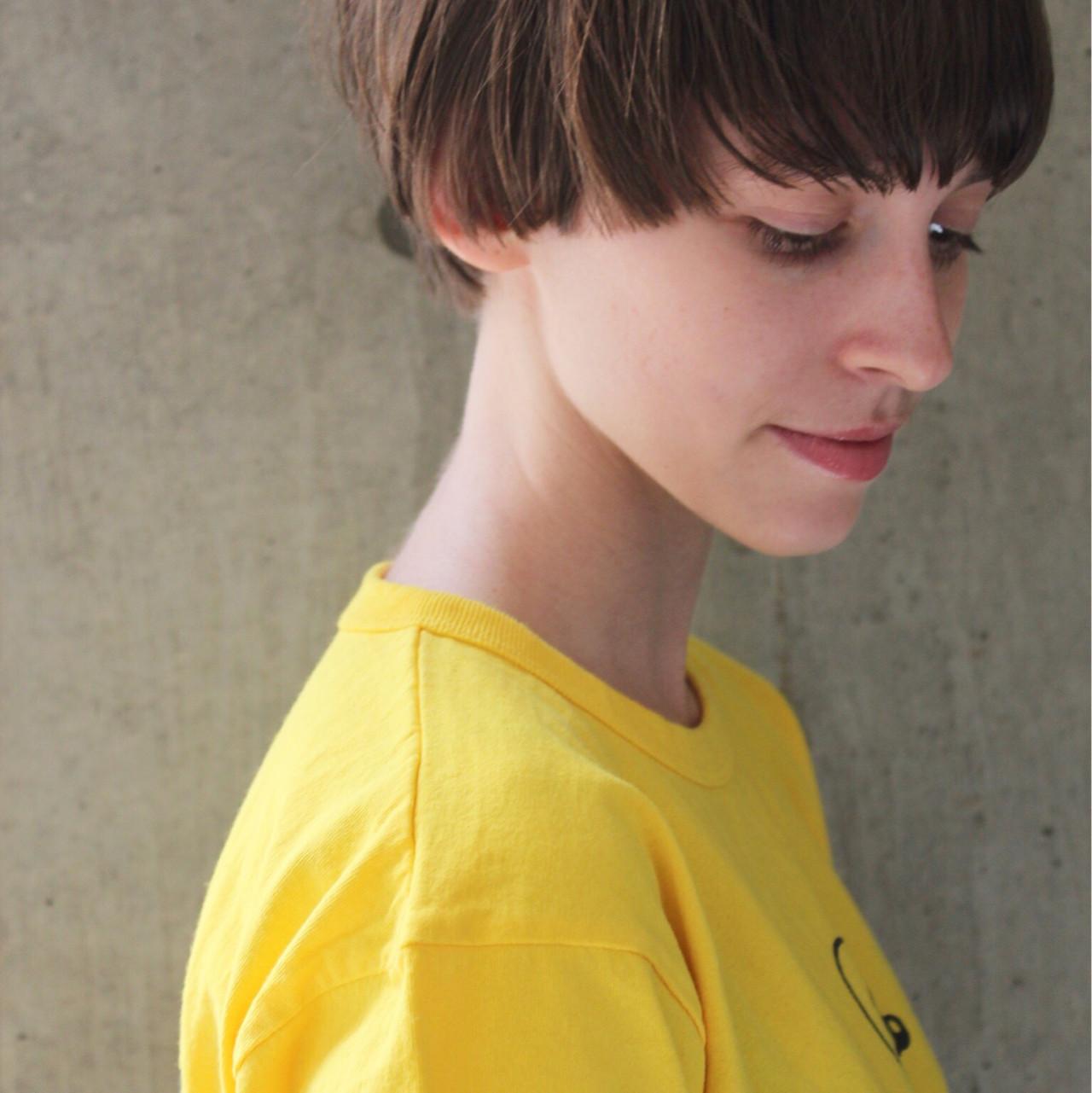 透明感 簡単ヘアアレンジ スポーツ ショート ヘアスタイルや髪型の写真・画像 | bibito crew / bibito