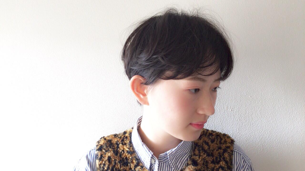 ショート ナチュラル アンニュイほつれヘア 透け感 ヘアスタイルや髪型の写真・画像