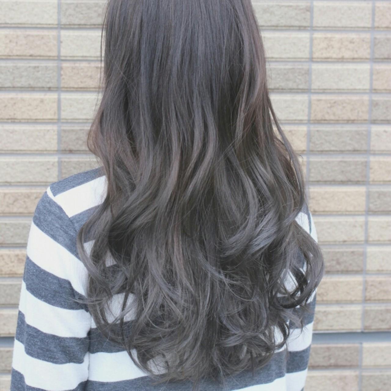 暗髪 グラデーションカラー 渋谷系 ロング ヘアスタイルや髪型の写真・画像