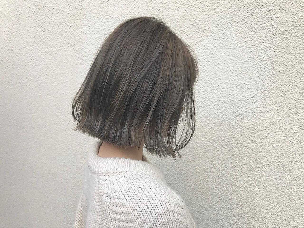 外国人風 ボブ 透明感 ナチュラル ヘアスタイルや髪型の写真・画像