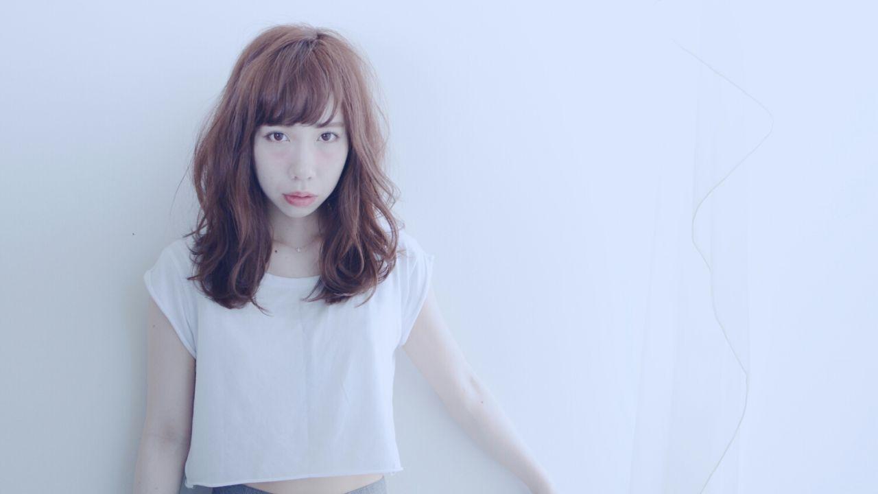ミディアム モテ髪 ガーリー 外国人風 ヘアスタイルや髪型の写真・画像