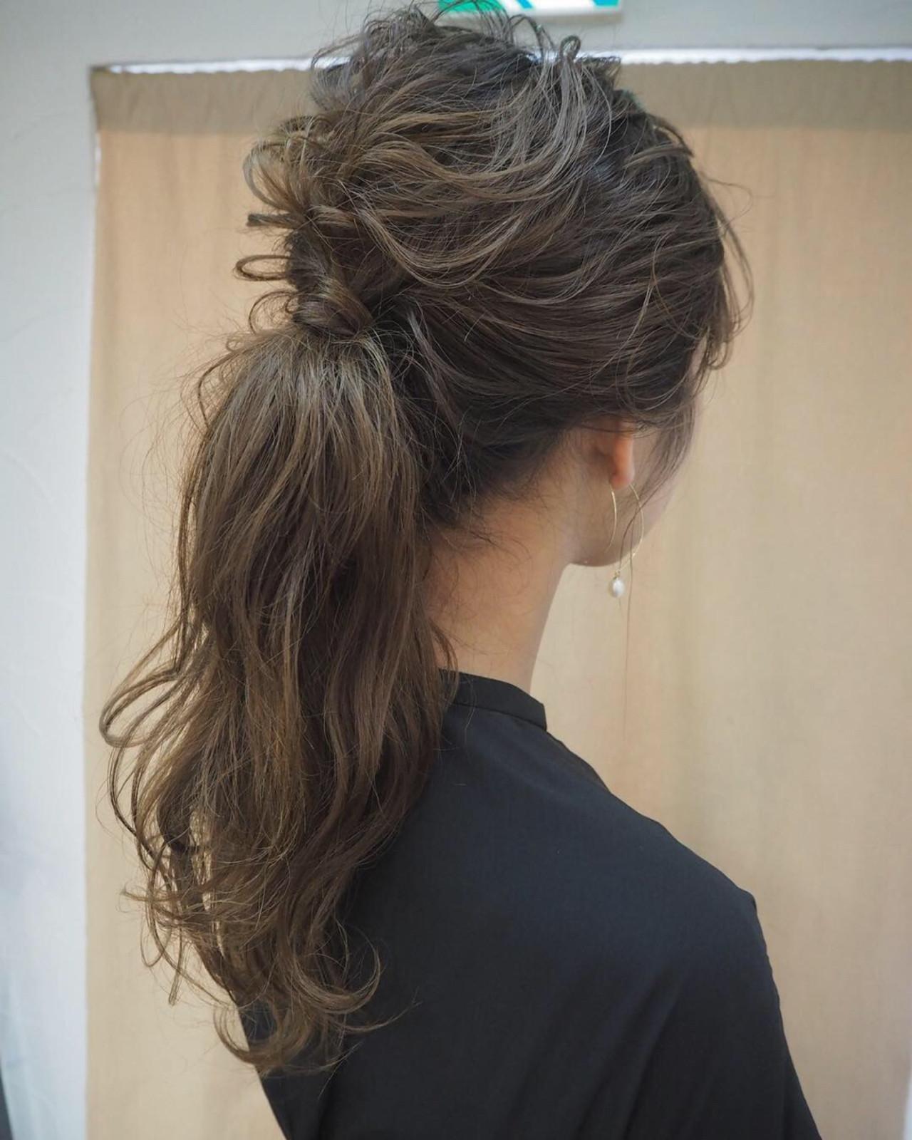 編み込み ナチュラル ヘアアレンジ 結婚式 ヘアスタイルや髪型の写真・画像