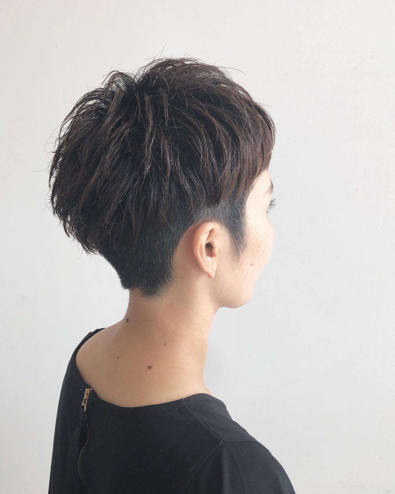 ショート 大人かわいい ヘアアレンジ 前髪あり ヘアスタイルや髪型の写真・画像   Yuuta Asato / Moana by HEADLIGHT 沖縄東崎店
