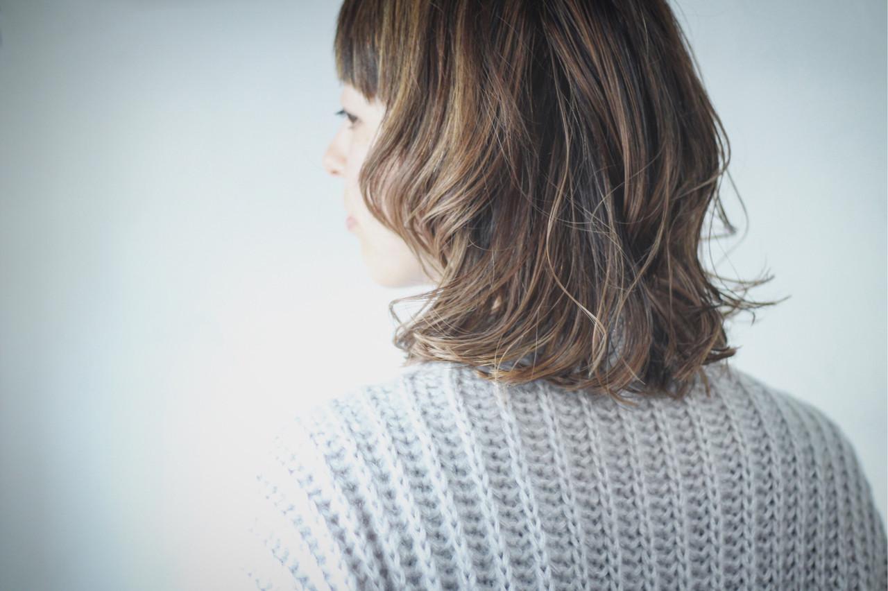 コントラストハイライト ナチュラル ホワイトハイライト ハイライト ヘアスタイルや髪型の写真・画像 | creap / creap