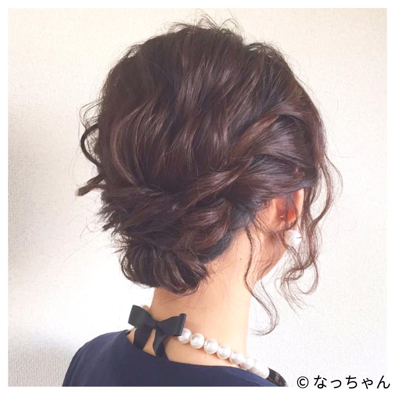 結婚式 パーティ ヘアアレンジ お呼ばれ ヘアスタイルや髪型の写真・画像 | なっちゃん / G-girl
