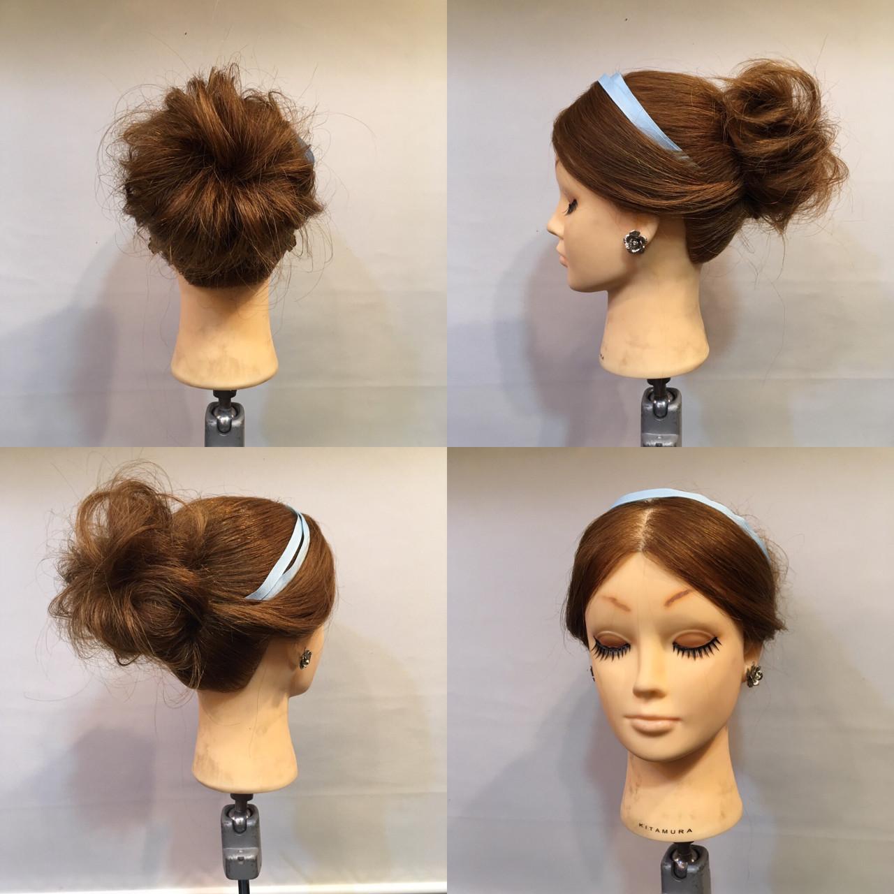 セミロング 結婚式 ヘアアレンジ ディズニー ヘアスタイルや髪型の写真・画像