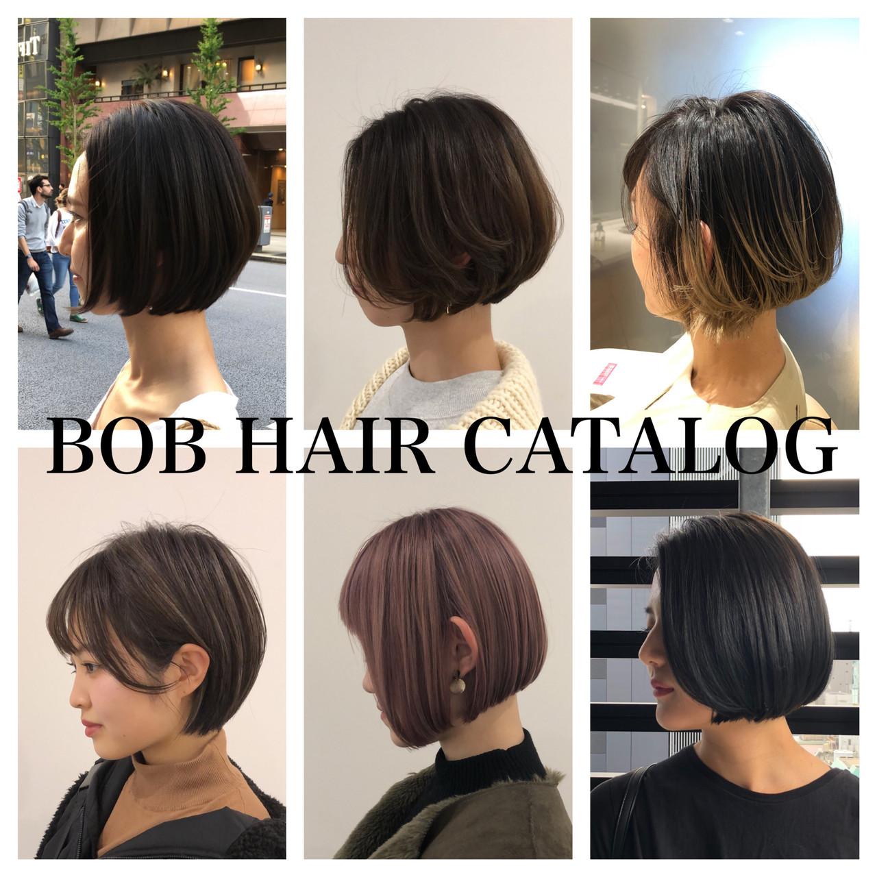 モテボブ ミニボブ 前下がりボブ まとまるボブ ヘアスタイルや髪型の写真・画像 | 池上 一星 / GINZA PEEK-A-BOO 中央通り店
