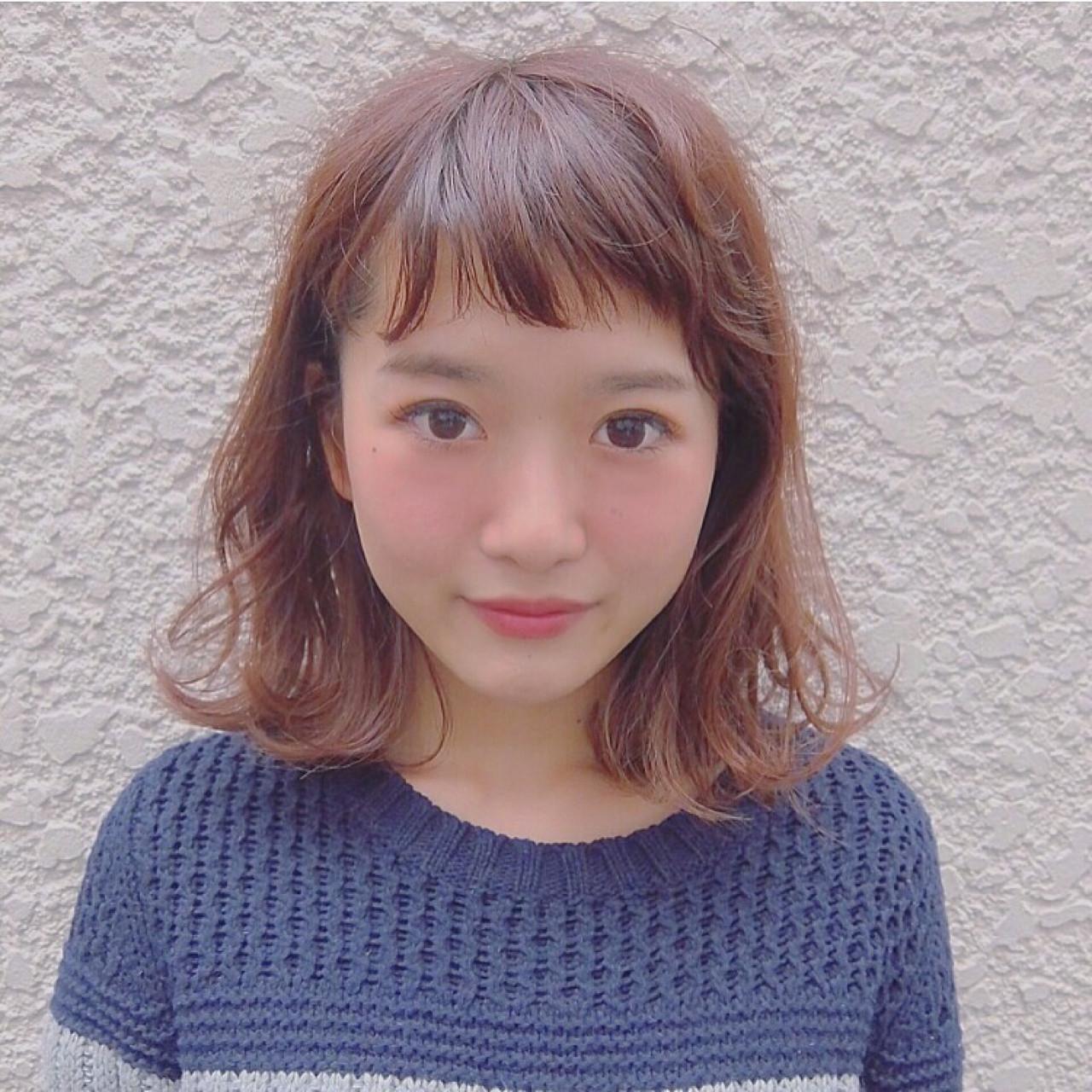 オン眉 ゆるふわ 大人かわいい おフェロ ヘアスタイルや髪型の写真・画像 | Chihiro Hayakawa /