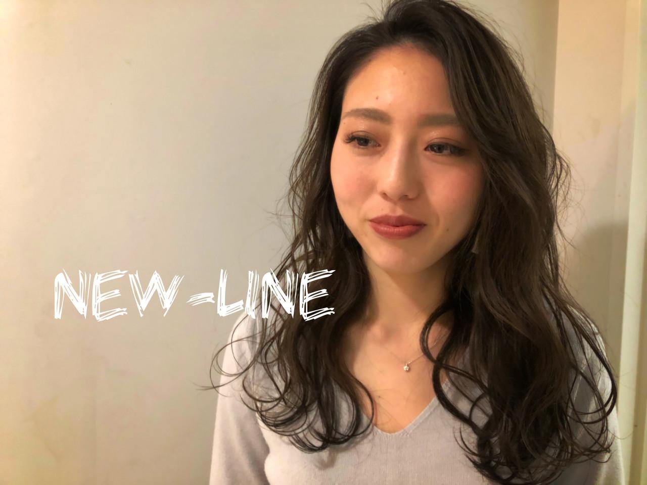 波ウェーブ デート 外国人風 ヘアアレンジ ヘアスタイルや髪型の写真・画像 | YUKA / NEWLINE