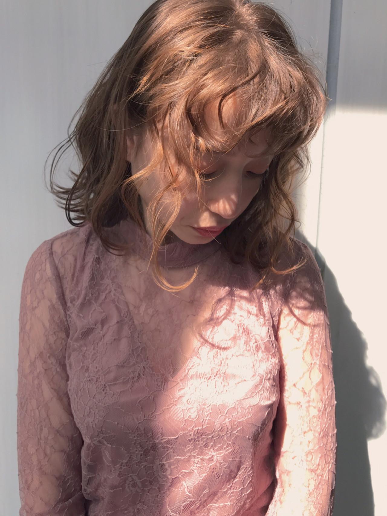 大人かわいい ガーリー ヘアメイク ゆるふわ ヘアスタイルや髪型の写真・画像