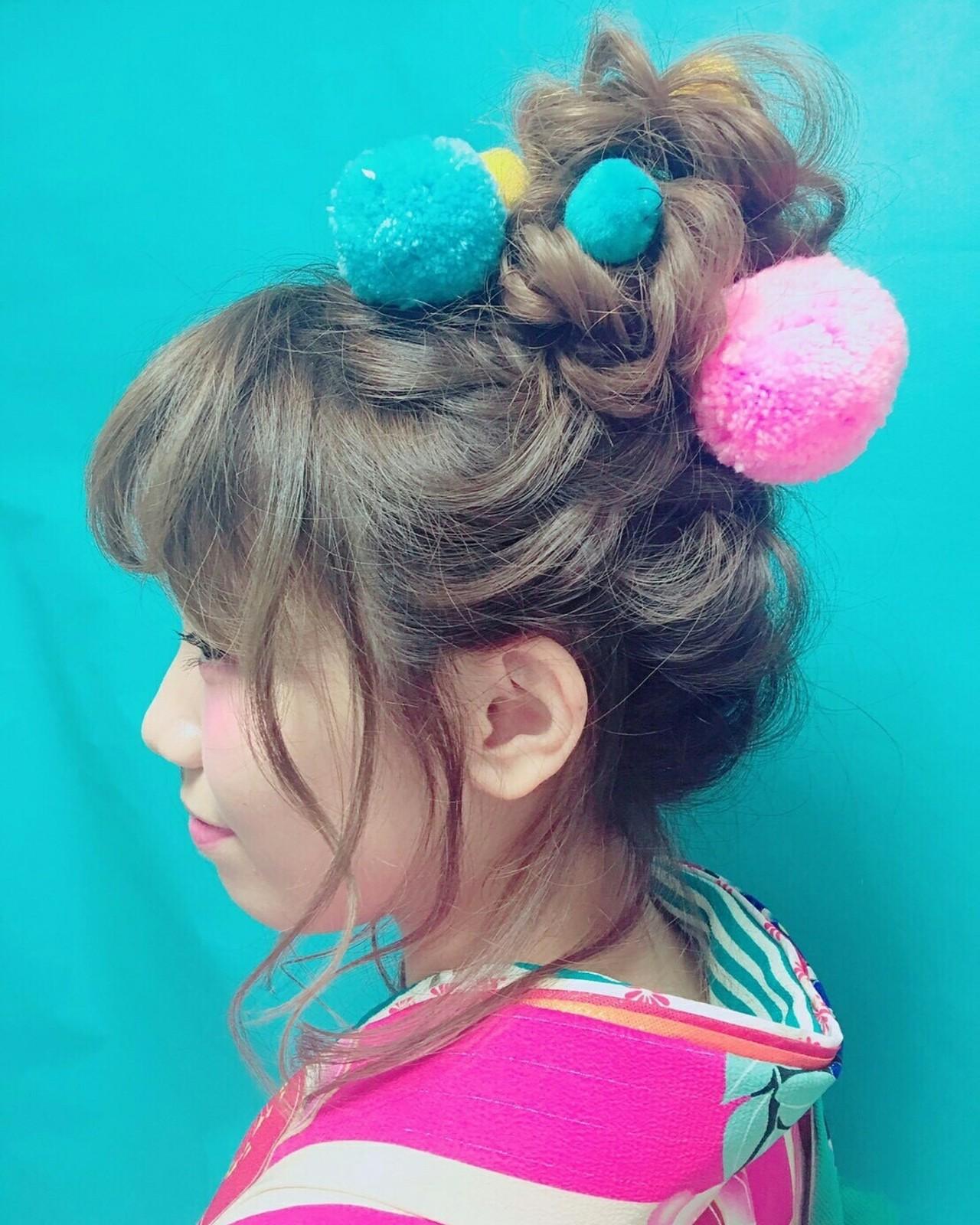 セミロング 結婚式 ヘアアレンジ アップスタイル ヘアスタイルや髪型の写真・画像