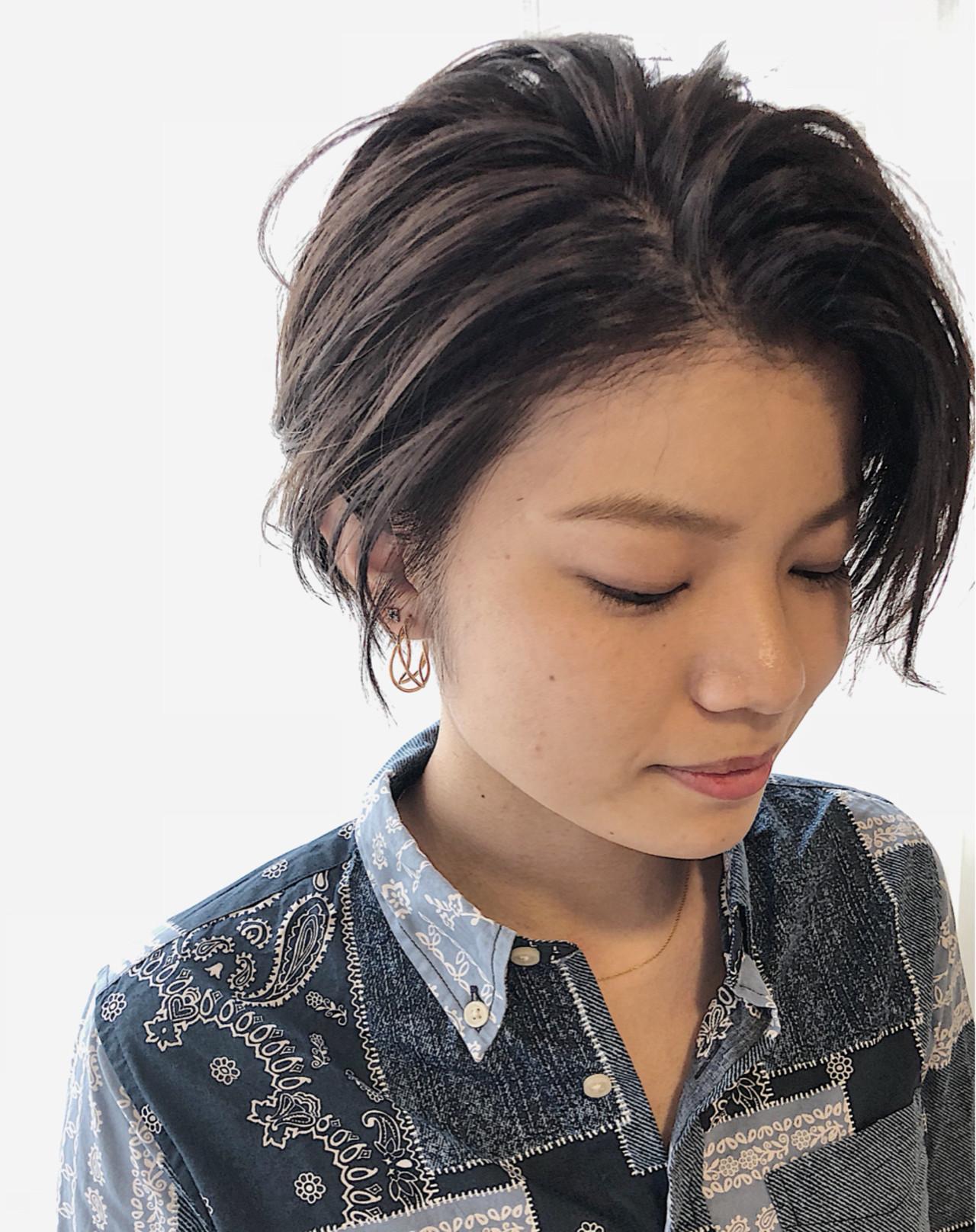 デート 小顔 透明感 ナチュラル ヘアスタイルや髪型の写真・画像
