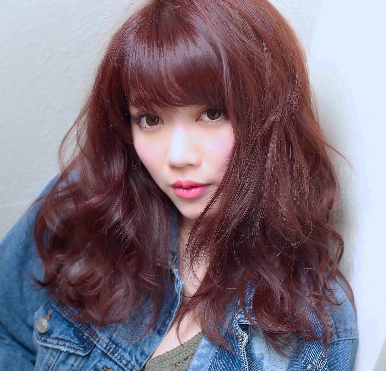 ガーリー 大人かわいい レッド モテ髪 ヘアスタイルや髪型の写真・画像