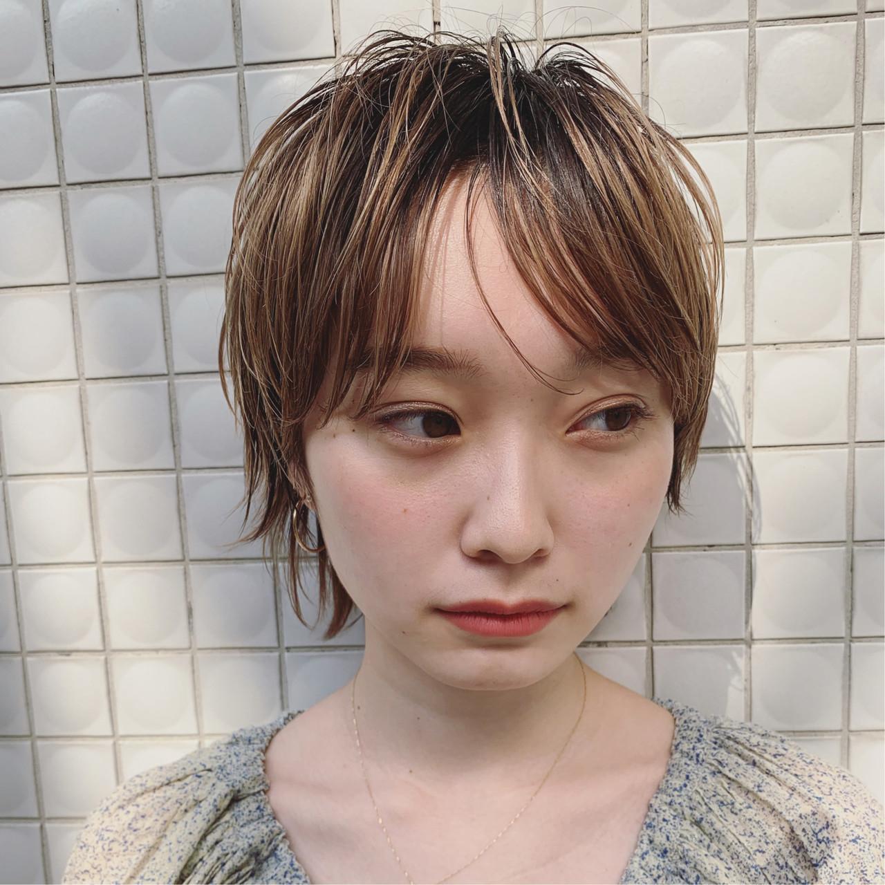外国人風 ゆるふわ ストリート ショート ヘアスタイルや髪型の写真・画像