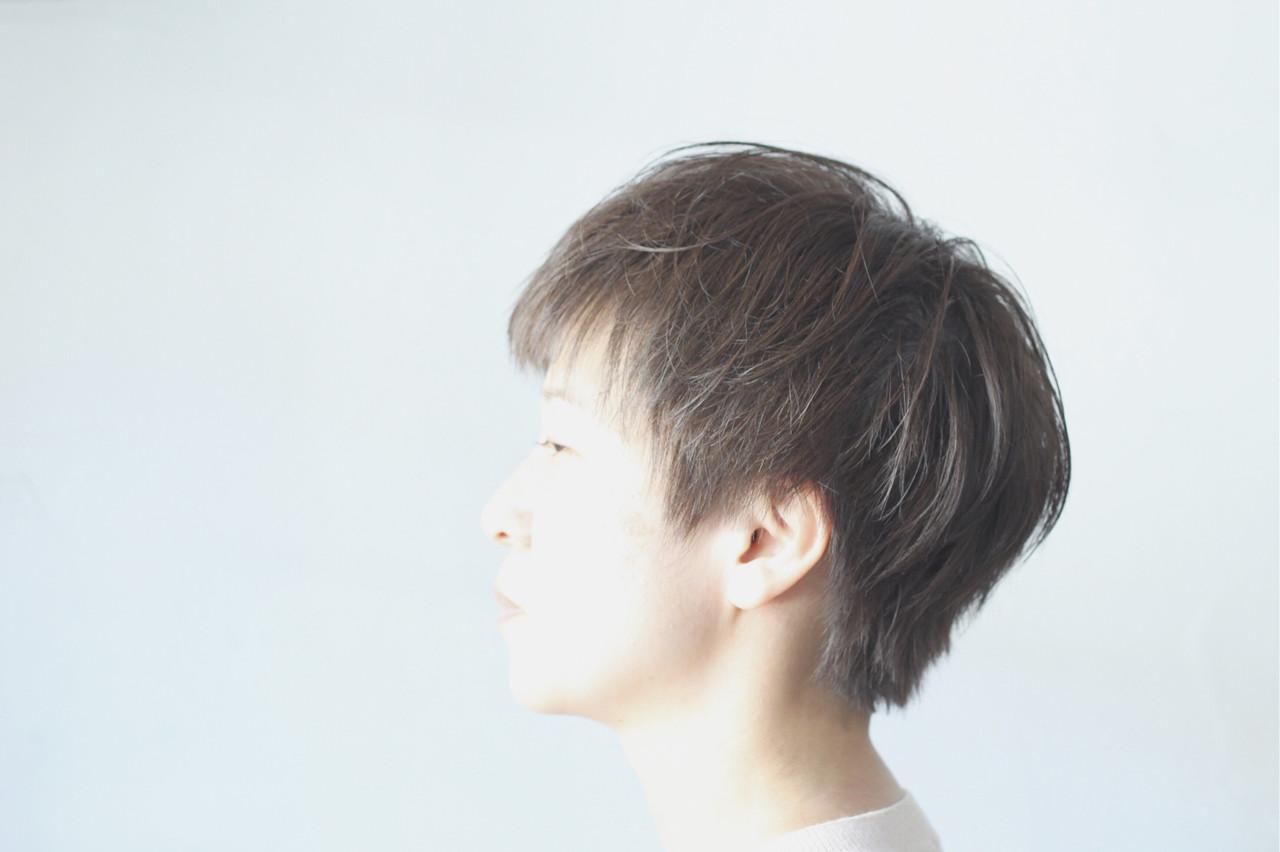 ナチュラル ベリーショート ショート ハンサムショート ヘアスタイルや髪型の写真・画像 | creap / creap