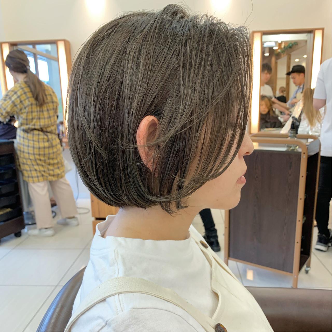 ふんわりショート ショートヘア 大人可愛い ふんわり ヘアスタイルや髪型の写真・画像