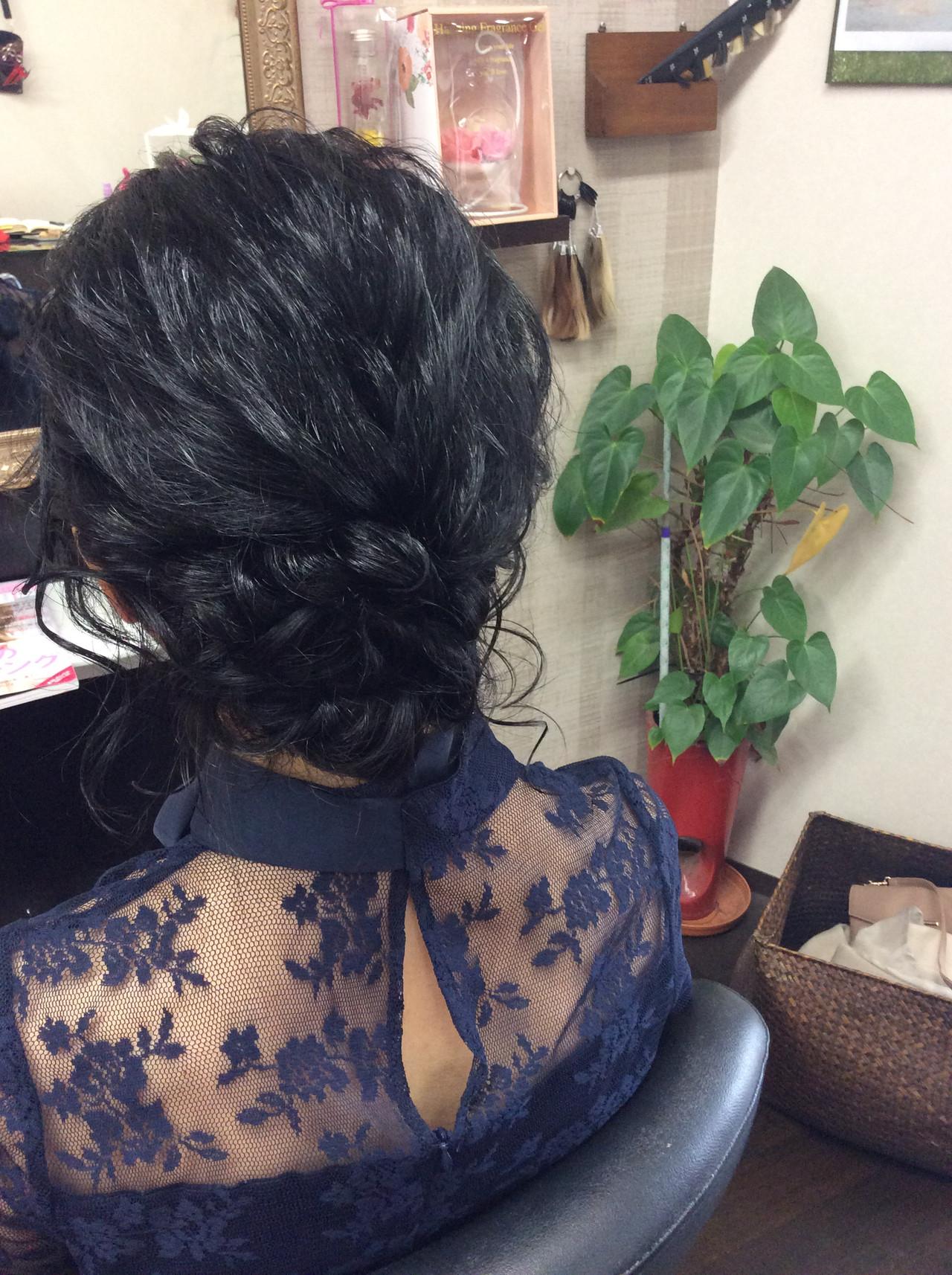 ナチュラル ヘアアレンジ ミディアム 編み込みヘア ヘアスタイルや髪型の写真・画像