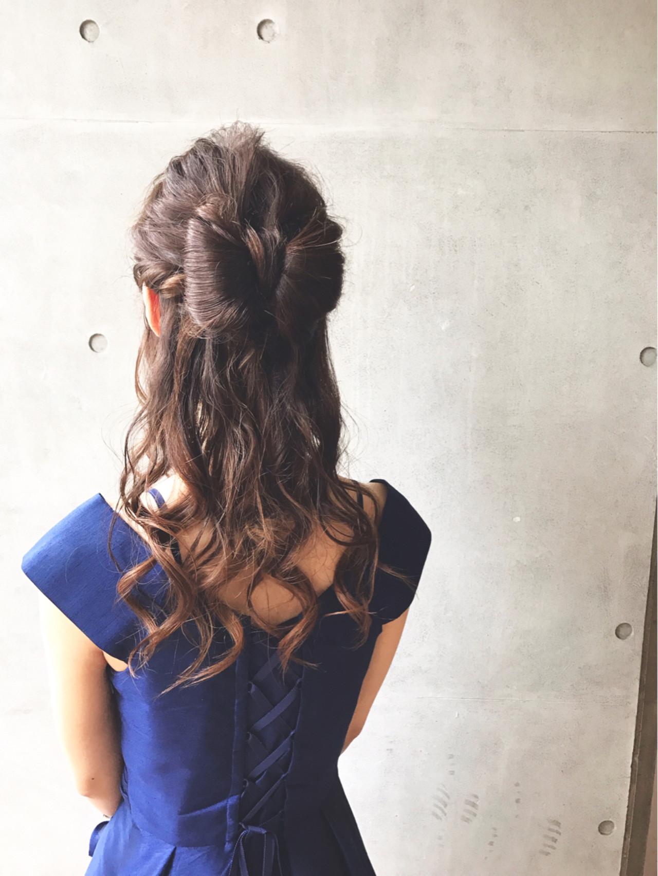 フェミニン ロング デート 結婚式 ヘアスタイルや髪型の写真・画像
