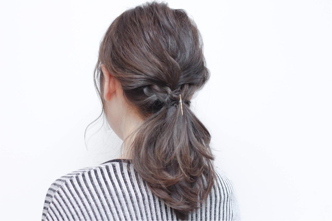セミロング ショート ナチュラル 簡単ヘアアレンジ ヘアスタイルや髪型の写真・画像   Hiroshi Kuroe 尼崎 / K'LipbyTAL'KE