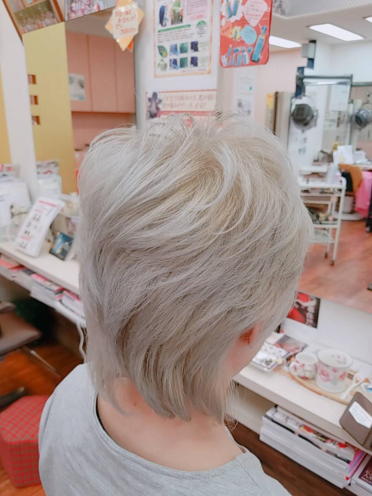 ショート エレガント ヘアスタイルや髪型の写真・画像