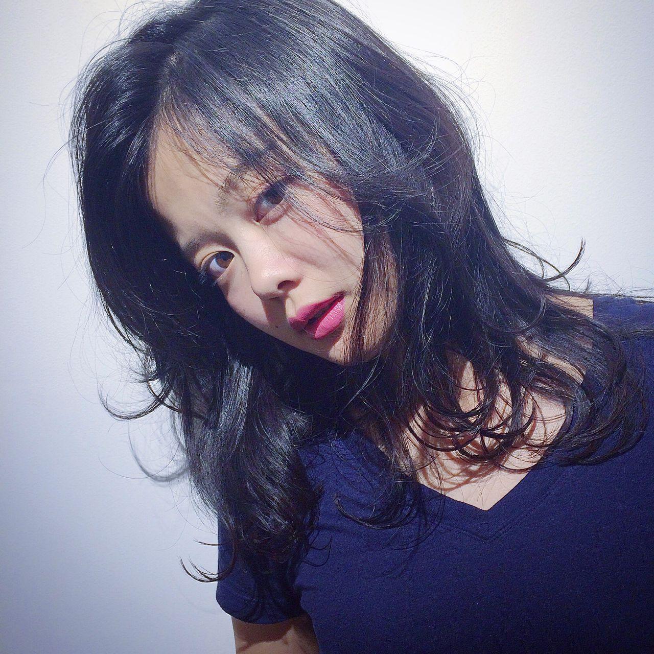 ストリート 黒髪 モード 外国人風 ヘアスタイルや髪型の写真・画像