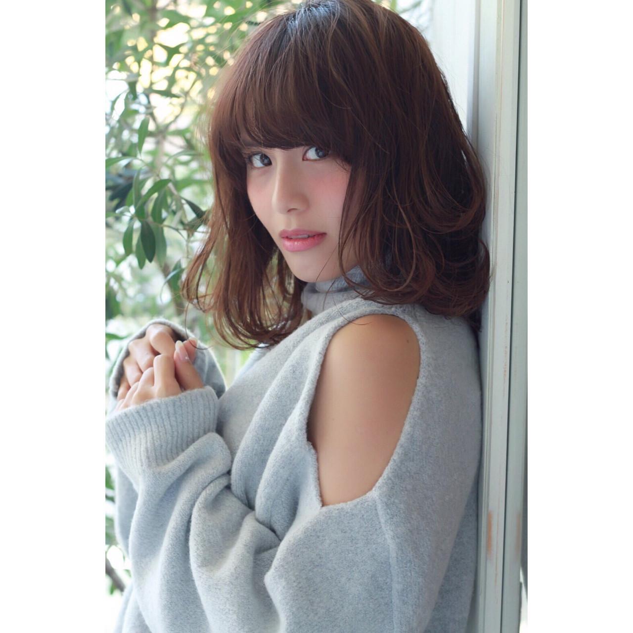 フェミニン ナチュラル 抜け感 透明感 ヘアスタイルや髪型の写真・画像 | サン /