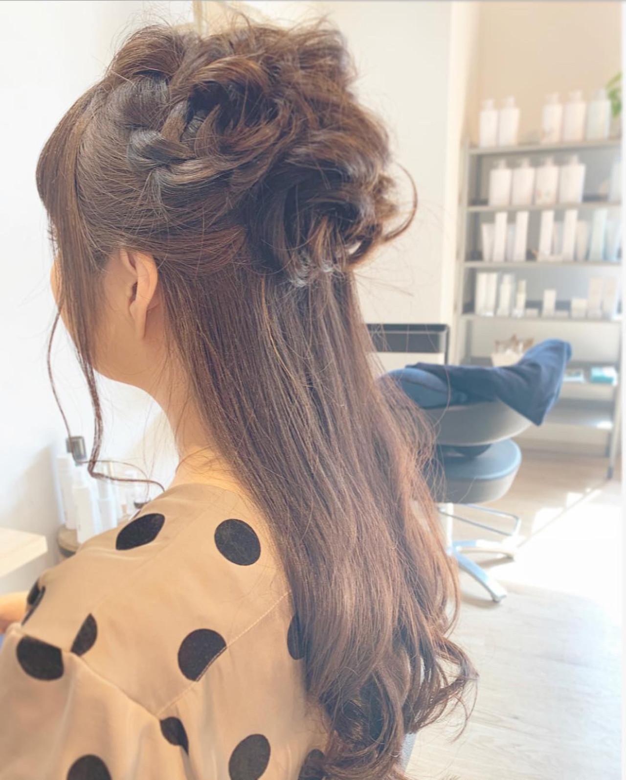 オフィス 簡単ヘアアレンジ デート セミロング ヘアスタイルや髪型の写真・画像 | 寺島孝夫 / Lea hair&nail