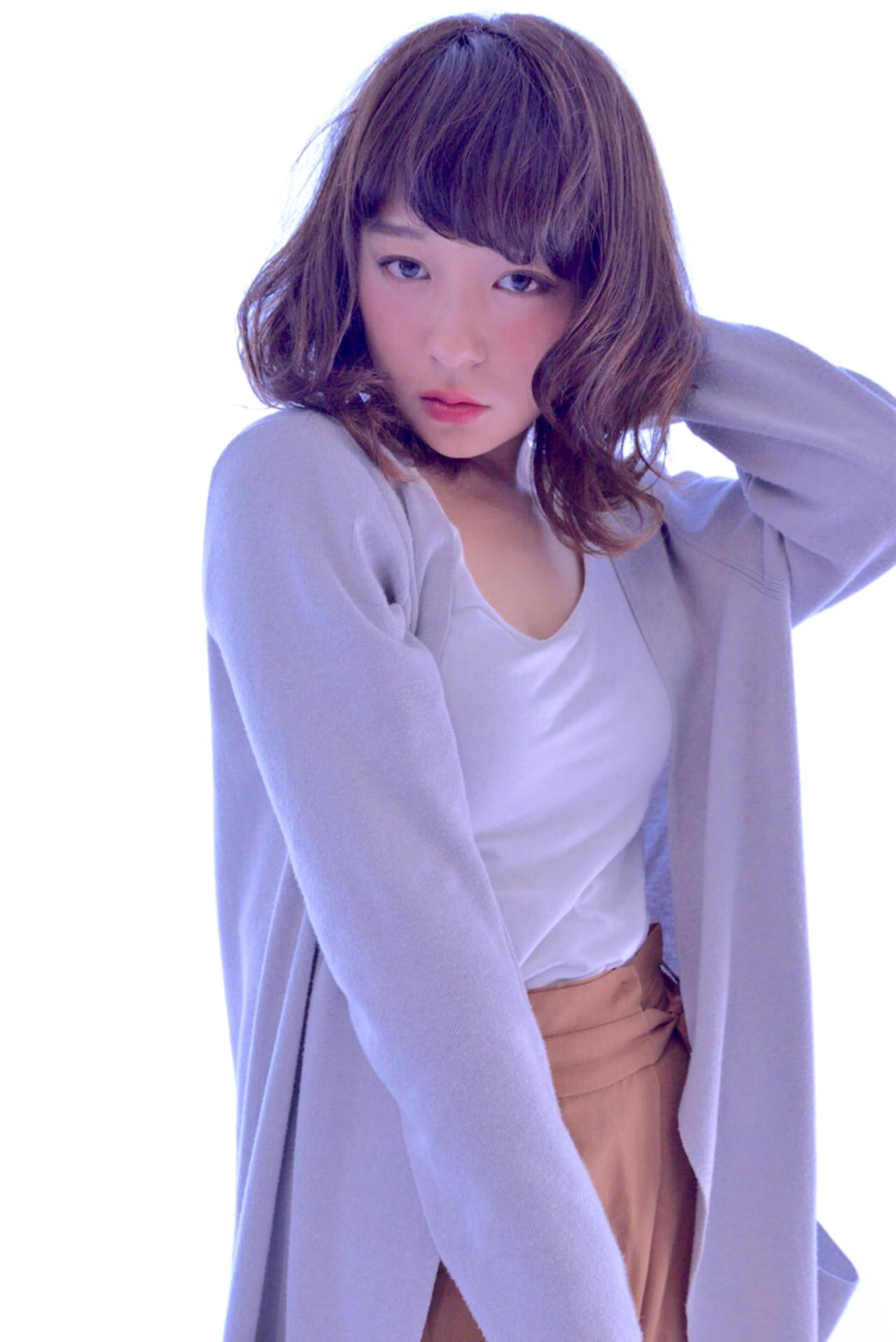 色気 秋 大人かわいい ミディアム ヘアスタイルや髪型の写真・画像 | mayu /