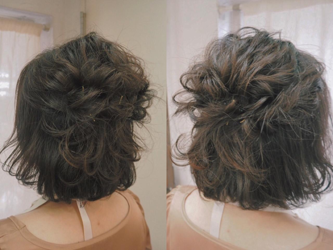 簡単ヘアアレンジ 大人かわいい 編み込み ヘアアレンジ ヘアスタイルや髪型の写真・画像   宮迫 真美 / airfeel