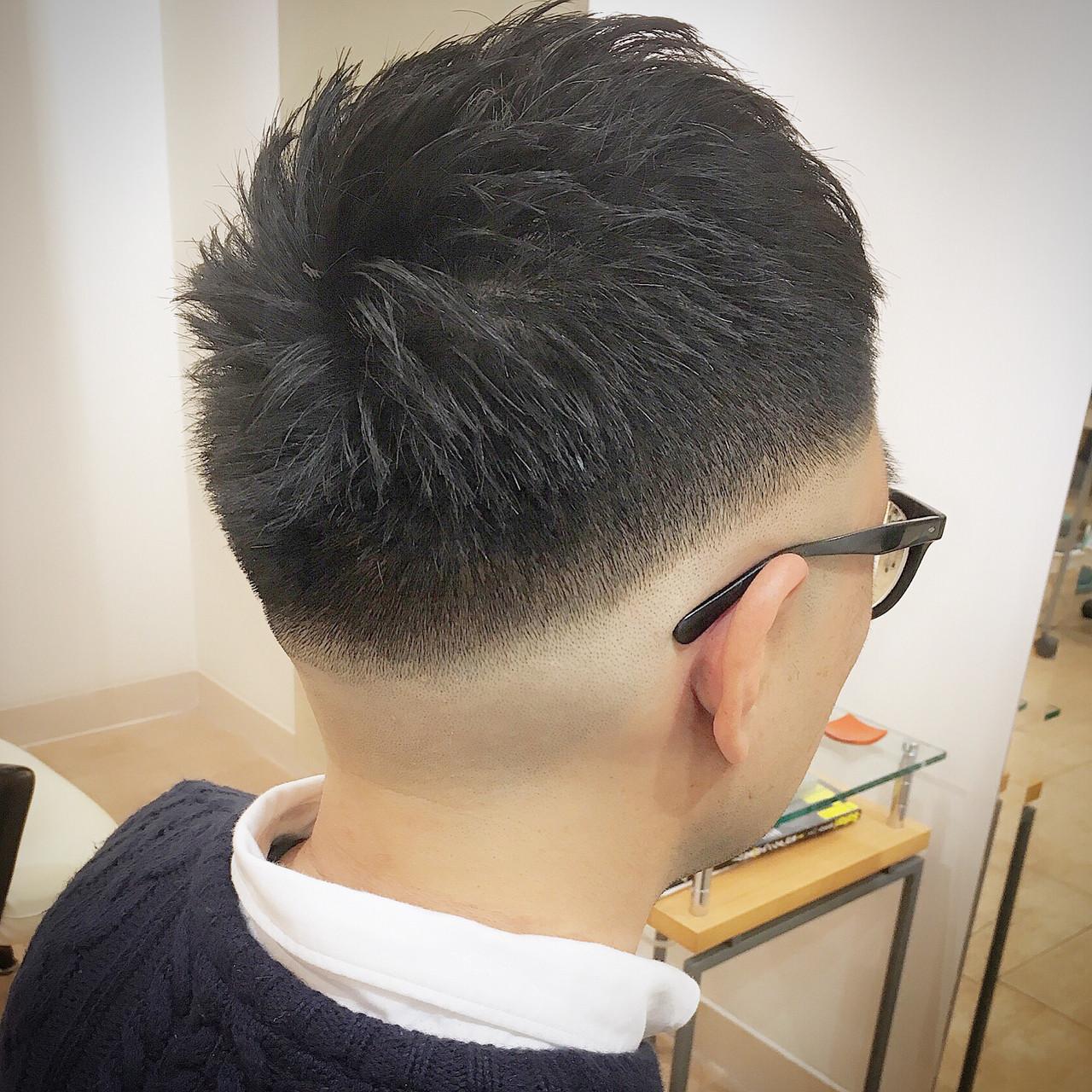 刈り上げ ストリート フェードカット ショート ヘアスタイルや髪型の写真・画像