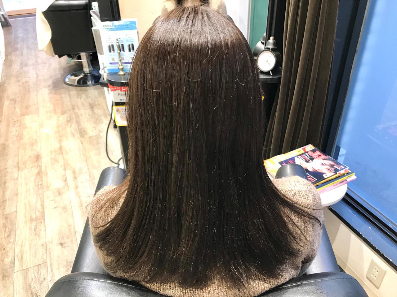 ダークグレー ナチュラル アッシュ グレージュ ヘアスタイルや髪型の写真・画像 | 小川宏人 / 花鳥風月TOTAL BEAUTY