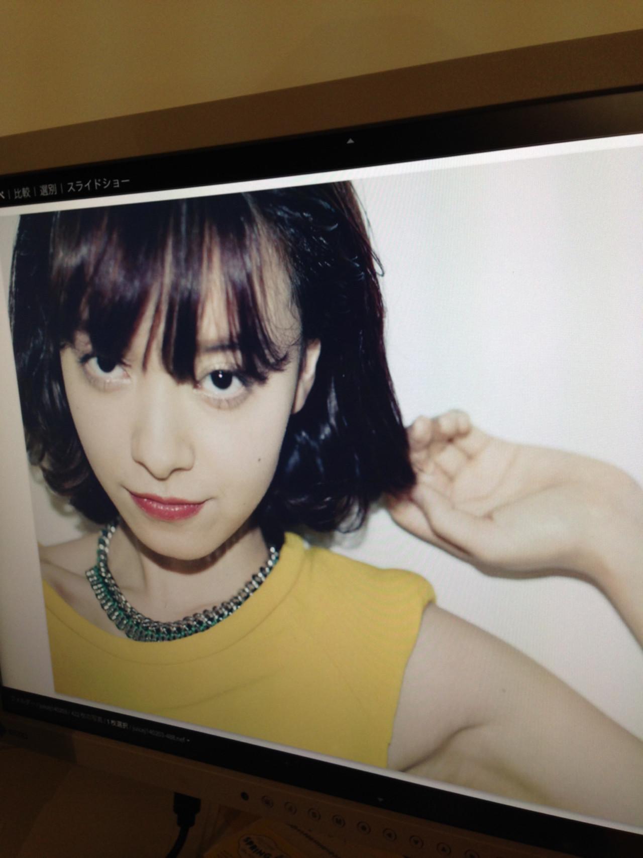 大人女子 ボブ ヘアアレンジ 色気 ヘアスタイルや髪型の写真・画像