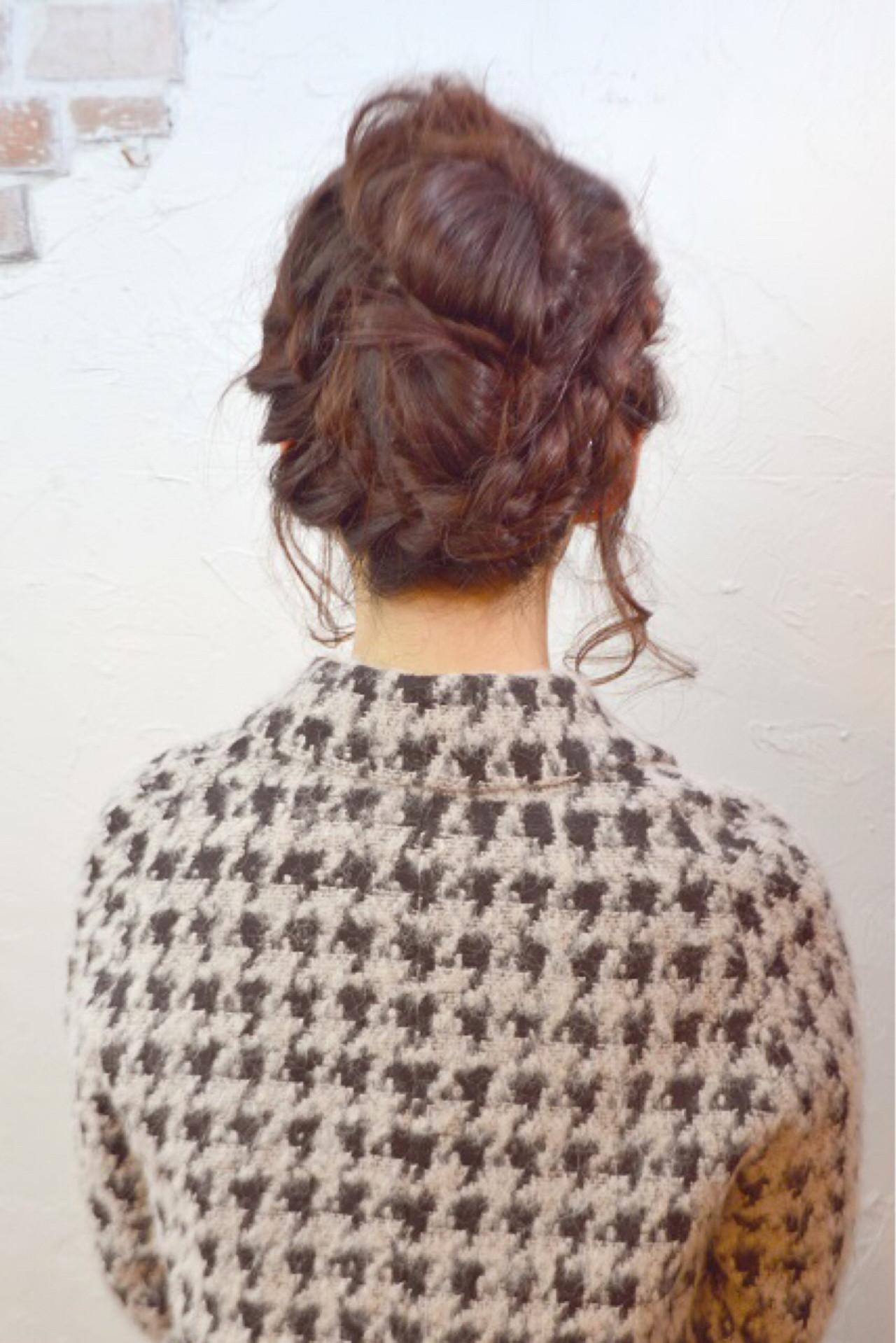 大人かわいい ショート セミロング 簡単ヘアアレンジ ヘアスタイルや髪型の写真・画像