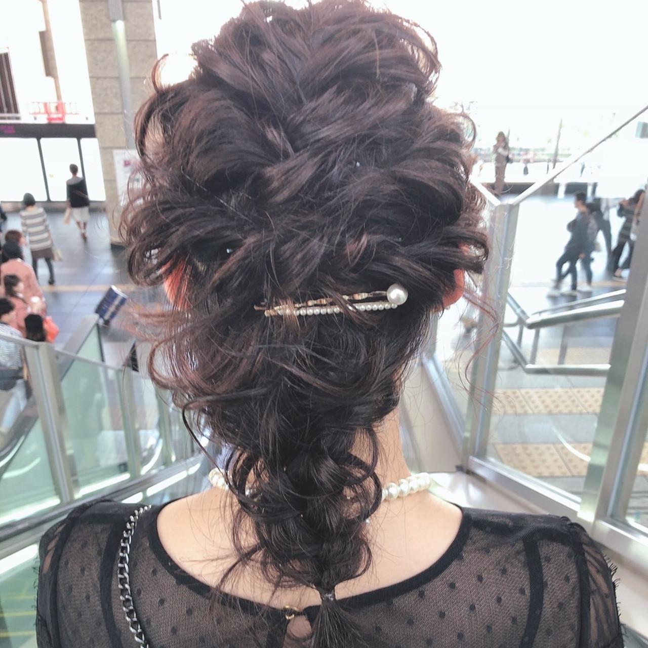 結婚式ヘアアレンジ ふわふわヘアアレンジ ヘアアレンジ セルフヘアアレンジ ヘアスタイルや髪型の写真・画像