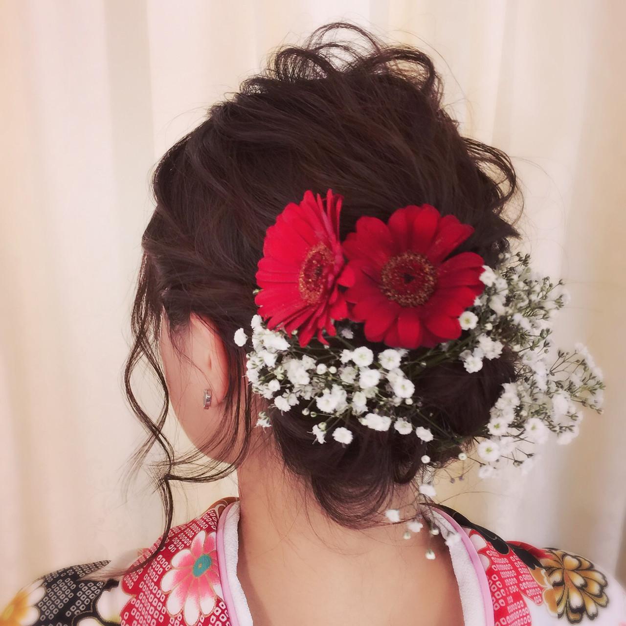 ゆるふわ 学校 袴 ガーリー ヘアスタイルや髪型の写真・画像