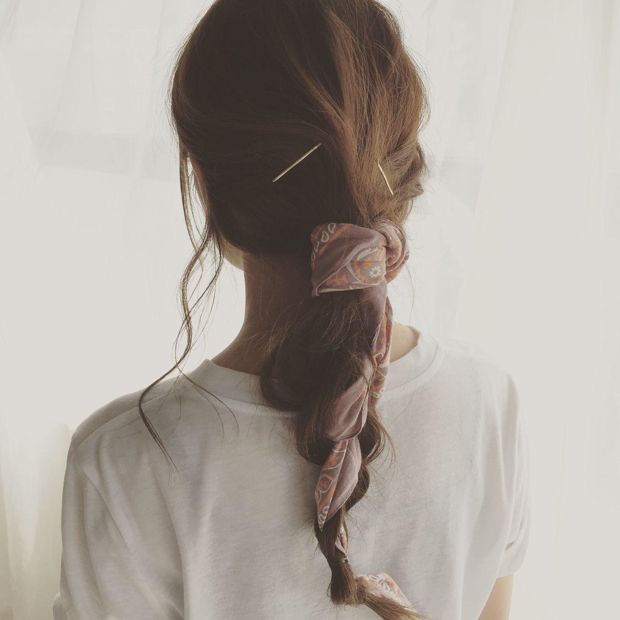 まとめ髪 束感 簡単ヘアアレンジ ストリート ヘアスタイルや髪型の写真・画像 | 佐野 正人 / nanuk / nanuk